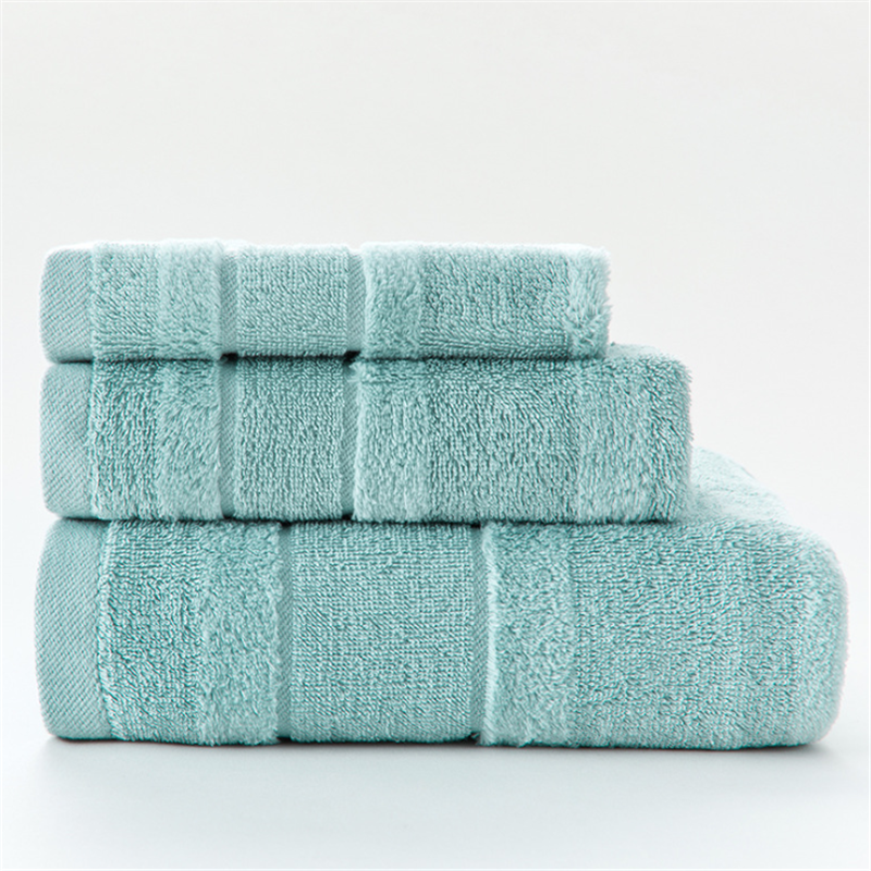 3pcs a Set Soft Cotton Bath Towels For Adults Absorbent Terry Luxury Hand Bath Beach Face