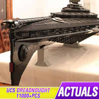 MOC Ultimative Millennium Stern spielzeug Wars UCS Eclipse klasse Dreadnought kompatibel legoing Falcon Modell Gebäude Blcoks Ziegel Spielzeug