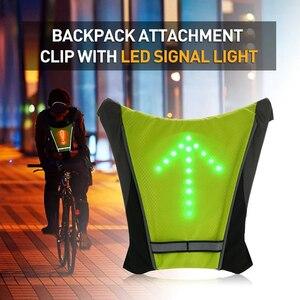 Novo 2020 bicicleta led sem fio ciclismo colete mtb bicicleta saco de segurança led turn signal luz colete reflexivo aviso coletes com rem