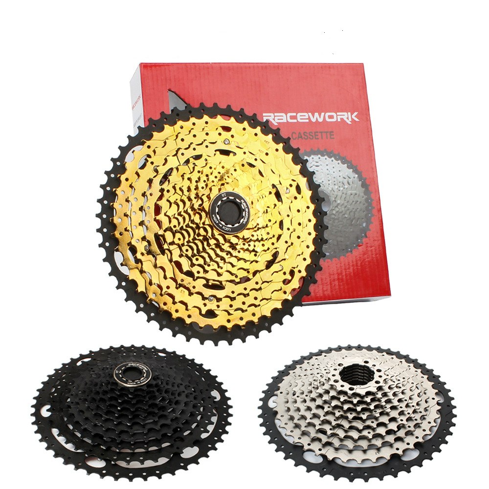 Mountain Bike Freewheel <font><b>Cassette</b></font> Gold 10 <font><b>11</b></font> 12 Speed Road Bike Cassettle <font><b>42</b></font> 46 50 52T Cogs MTB Folding Bicycle Flywheel SUNRACE image