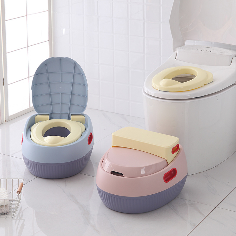 New Style Yu Qi Anti-slip Multi-functional Step-wise Toilet Baby Toilet For Kids Potty