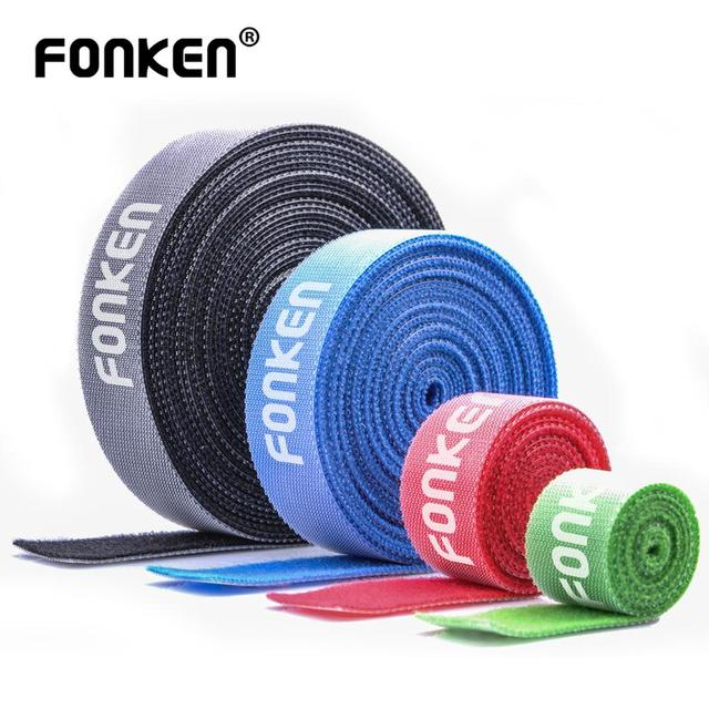 FONKEN USB Cable Winder Cable Organizer Ties Mouse Wire Earphone Holder PC Cord Free Cut Cable Management Hoop Tape Protector 1