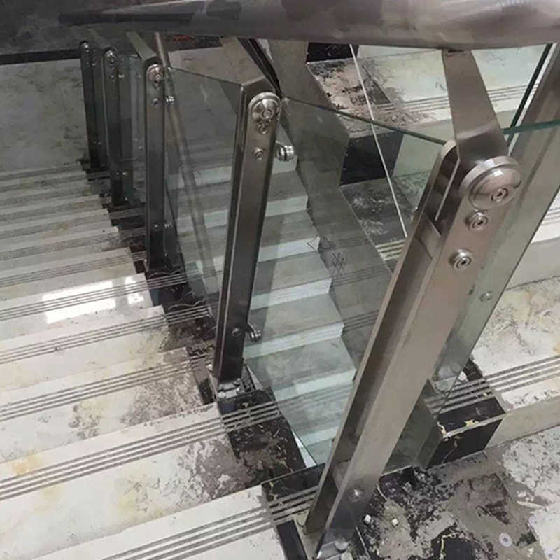 201 304 Stainless Steel Handrail Pillar Indoor Outdoor Glass | Metal Handrails For Indoor Stairs | Baluster | Indoor Outdoor | Staircase Remodel | Stainless Steel | Stair Treads