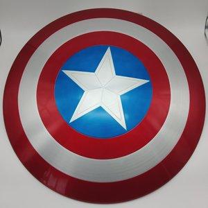 Image 3 - 60CM capitaine amérique bouclier 1:1 Steve Rogers aluminium métal bouclier film Cosplay Halloween cadeau/accessoire