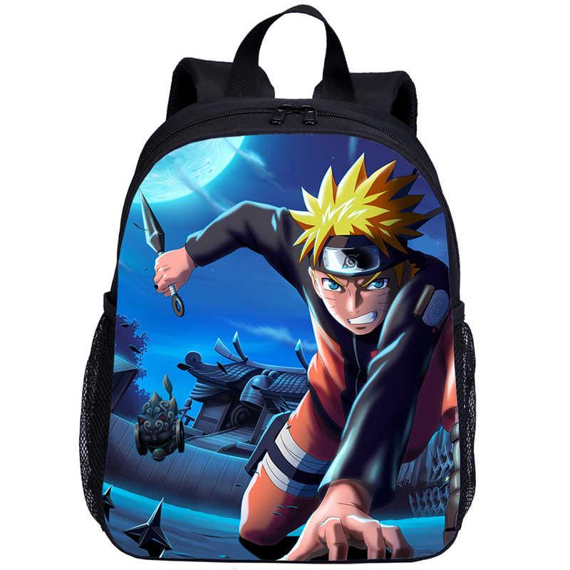 Mochila de Anime mochilas escolares de Naruto para niños bolsas de Akatsuki Itachi Sharingan Baby Boys mochila de viaje mochila de regalo para niños