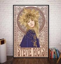 Affiche en toile avec steve Nicks Mucha Art Nouveau, peinture décorative murale pour la maison, décoration de chambre à coucher