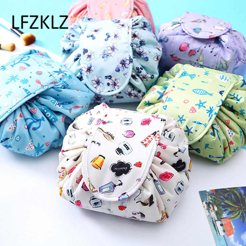 LFZKLZ Women Magic Pouch Cosmetic Bag Fashion Makeup Bag Organizer Make Cosmetic Bag Case Storage Pouch Toiletry Beauty Kit Box