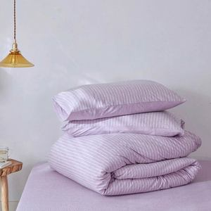 Svetanya Knitted Cotton Duvet Cover Pillowcase Soft Warm Bedlinen Single Twin Full Queen King Size Bedding Set