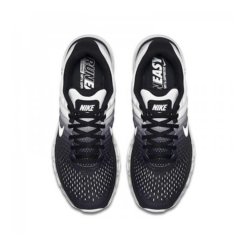 Оригинальные мужские кроссовки для бега Nike AIR MAX 2017, спортивные уличные дышащие кроссовки с сеткой, Спортивная Дизайнерская обувь 849559-010