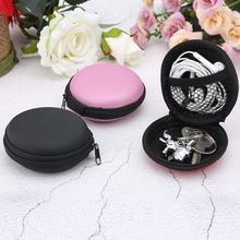 1PC Hot Sale Women Men Round Key Coin Headset Box Headphone Earbud Wallet Zip Purse Portable Bag Data Line Cables Storage Box 2017 new designs solid colors coin purse silicone round dollar coin wallet portable key bag case headphone storage zipper pouch
