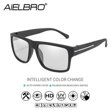 AIELBRO Photochromic Sunglasses Men Polarized Sun Glasses Male HD Vision Driving Goggles UV400 Chameleon Gafas