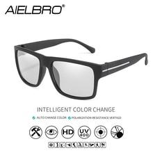 цена AIELBRO Photochromic Sunglasses Men Polarized Sun Glasses Male HD Vision Driving Goggles UV400 Chameleon Goggles Gafas