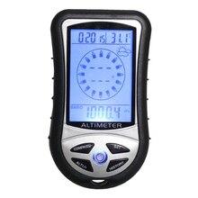 8 в 1 Многофункциональный цифровой альтиметр с ЖК-компасом, барометром, метеометром, термометром, календарем, электронными альтиметрами