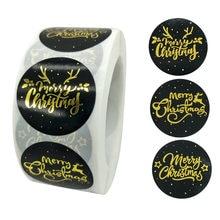 50-500 pces feliz natal tema adesivo de vedação diy presentes postado cozimento decoração pacote etiqueta multifuncional adesivo selo