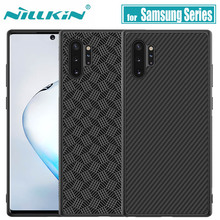 for Samsung Galaxy Note 10 9 8 S10 Plus Case Nillkin Carbon Synthetic Fiber Hard Full Cover Case for Samsung S10E Note10 Plus