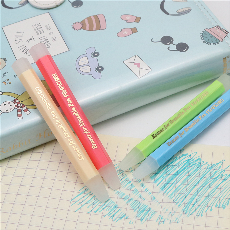 Erasable Pen Eraser Hexagonal And Pen Shape School Student Homework Eraser Special  For Magic Erasable  Pen