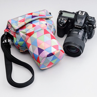 Roadfisher Small Vintage Camera Travel Shoulder Pig Bag Insert Case Pouch Fit Medium Digital DSLR SLR Canon Nikon Pentax Lens