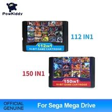 Ücretsiz kargo yüksek kalite 150in1 oyun kartuşu 16BIT MD oyun kartı için Sega Mega sürücü PAL ve NTSC konsolu drop shipping