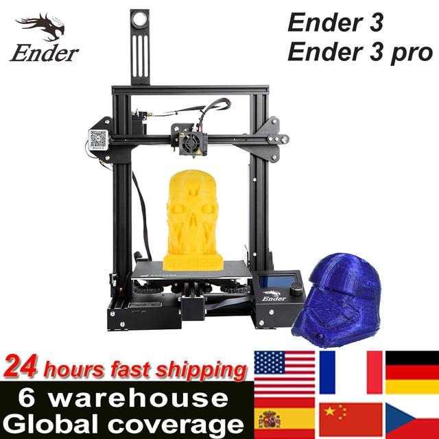 CREALITY 3D Printer Ender 3/Ender 3 pro DIY Kit Large Size I3 3D Ptinter Resume Power Failure Printing MeanWell Power