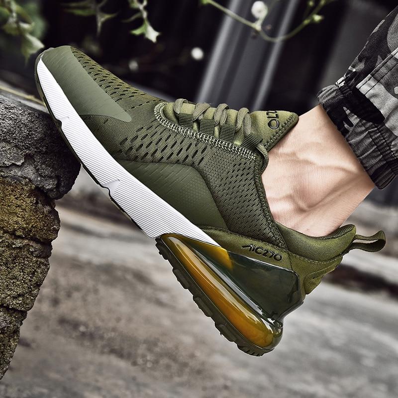 Nova marca de moda designer 270 esporte sapatos casuais almofada ar leve respirável tênis verão casal sapatos masculinos