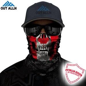 Bandana sin costuras con bandera nacional 3D, polaina de cuello de Calavera, protección facial para ciclismo, deporte, caza, senderismo, bufandas, máscara de tubo, Canadá, EE. UU.