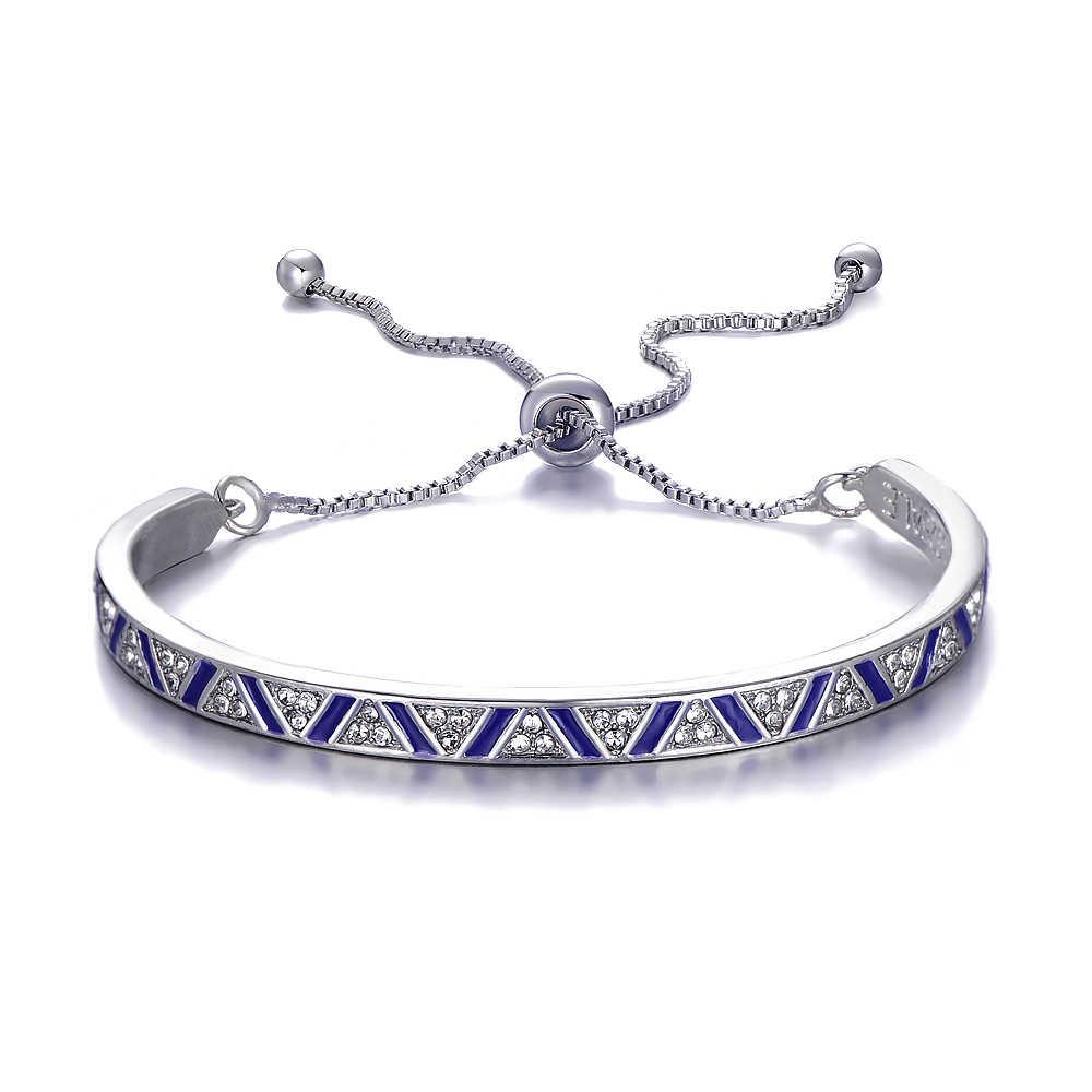Paylor nueva moda Pulseras de tenis de cristal esmaltado para Mujer pulsera y brazaletes de boda