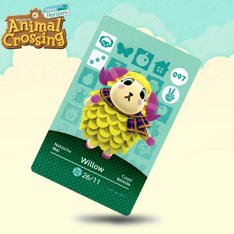 097 Willow  Animal Crossing Card Amiibo Cards Work For Switch NS 3DS Games