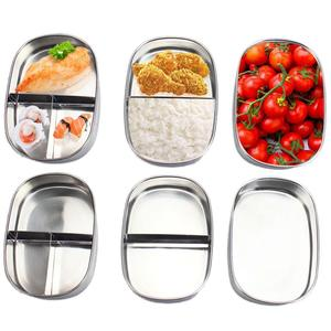 Portable Japanese Lunch Box With Compartments Tableware 304 Stainless Steel Kids Bento Box Food Container for Picnic Travel