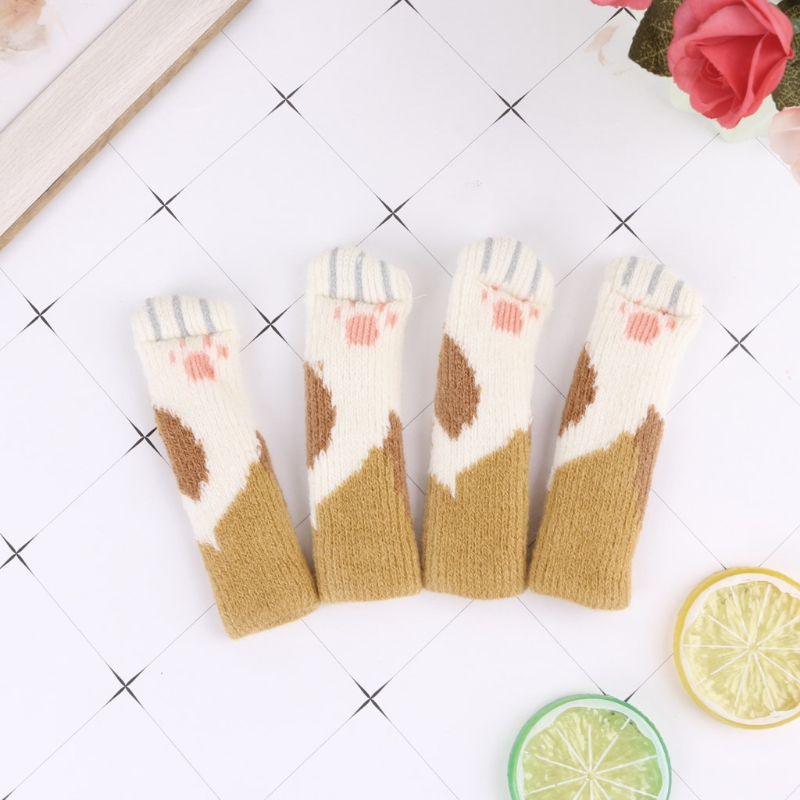 4Pcs Cat Non-slip Sock Cat Scratching Toys Furniture Chair Table Leg Protector