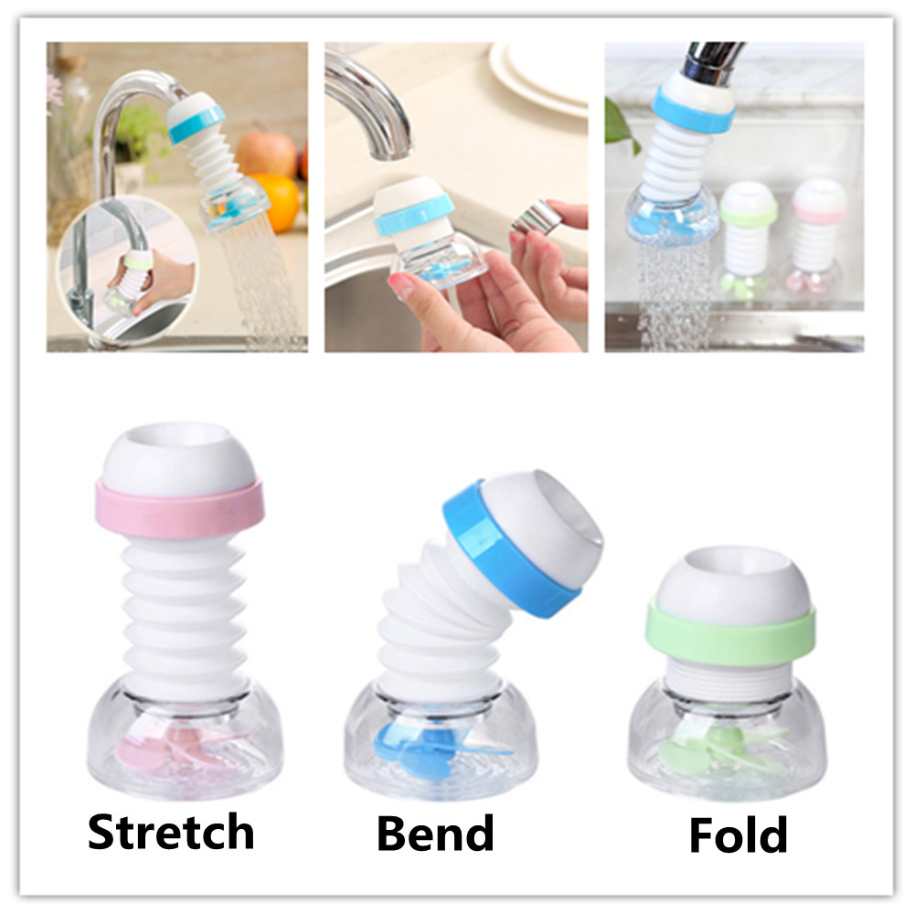 Adjustable Kitchen Faucet Nozzle Extender Swivel Water Tap Filter Water Saver Splash-Proof Water Outlet Bathroom Accessories