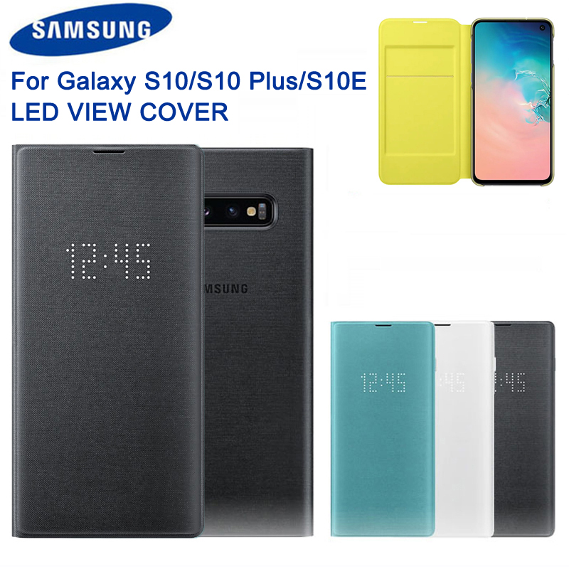 Original <font><b>Led</b></font> Phone <font><b>Case</b></font> View Cover For <font><b>Samsung</b></font> Galaxy <font><b>S10</b></font> X SM-G9730 <font><b>S10</b></font>+ <font><b>S10</b></font> Plus SM-G9750 S10e <font><b>S10</b></font> E SM-G9700 Protective <font><b>Case</b></font> image