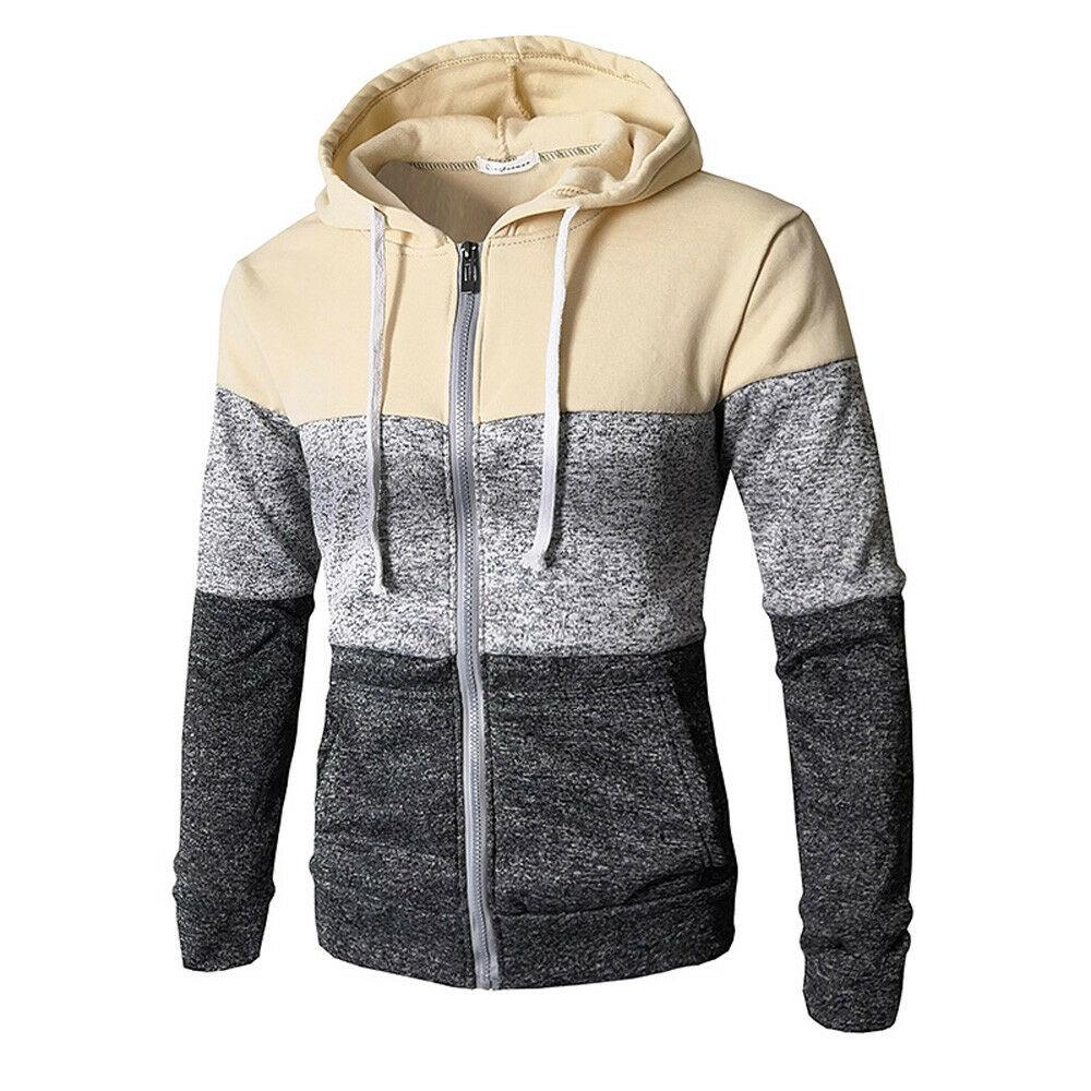Newest Men Zip Up Casual Elastic Sweater Coat Tops Jacket Outwear Sweater Jogger Zipper Men Autumn Winter Hoody Sweatercoat 2
