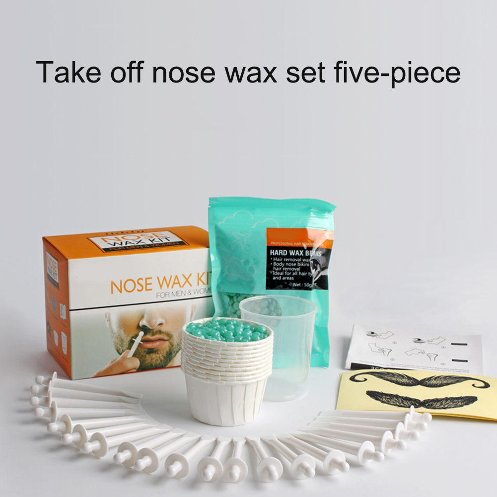 Professional Hair Removal Wax Portable Men's Wax Kit Nose Hair Removal Wax Safety Nose Hair Trimmer Beauty Tools