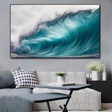 Affiche et imprimés sur toile avec paysage marin moderne, tableau d'art mural pour Salon