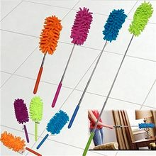 Telescópica microfibra espanador de limpeza extensível casa carro mais limpo poeira punho portátil escova varredura ferramenta natal