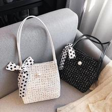 Fashion Women Handbag Woolen Scarf Elegant Shoulder Bags Large Capacity Ladies Girls Autumn Winter Shopping Travel Daily Totes amelie galanti handbag women totes classic patchwork serpentine large capacity daily use common style suitable for all ages 2017