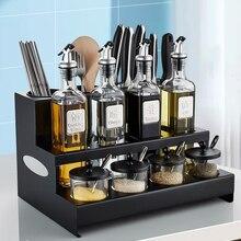 Storage-Supplies Table-Seasoning-Bottle Kitchen-Shelf Stainless-Steel Household Knife