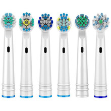 1/4Pcs Electric Toothbrush Heads Replaceable Brush Heads For Oral B Dual Clean Health Triumph Electric Replacement Brush Heads
