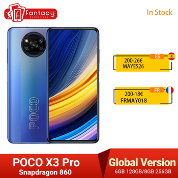 """In Stock Global Version POCO X3 Pro Smartphone NFC 33W Charge Mobile Phone Snapdragon 860 48MP Quad Camera 6.67"""" 120Hz 5160mAh 1"""