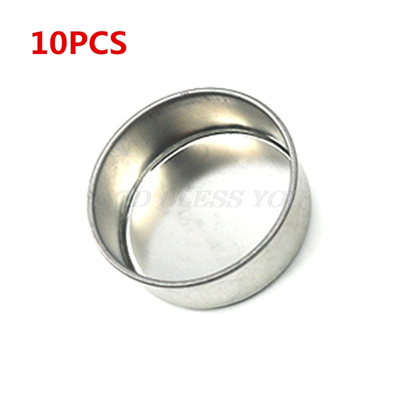 10PCS 4.31x1.5CM Round Metal Tealight Cup Holder Empty Case Candle Wax Container Bowl Mold DIY Jelly Gel Jars Making Accessories