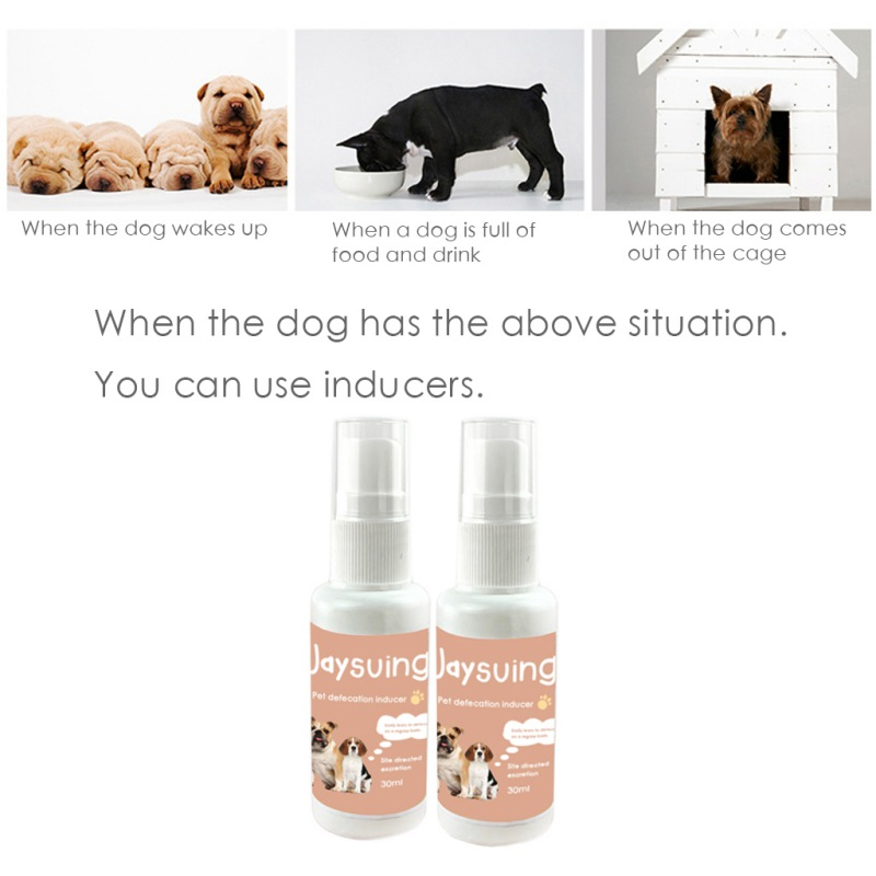 Dog Toilet Training Spray Pet Toilet Poop Traning Spray Inducer, Puppy Positioning Defecation Pet Stool Habits Dog Training 30ml