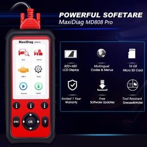 Image 5 - Autel MaxiDiag MD808 プロ OBD2 スキャナ診断ツール自動スキャナーすべてのシステム Eobd Automotivo Automotriz 自動車車スキャナ