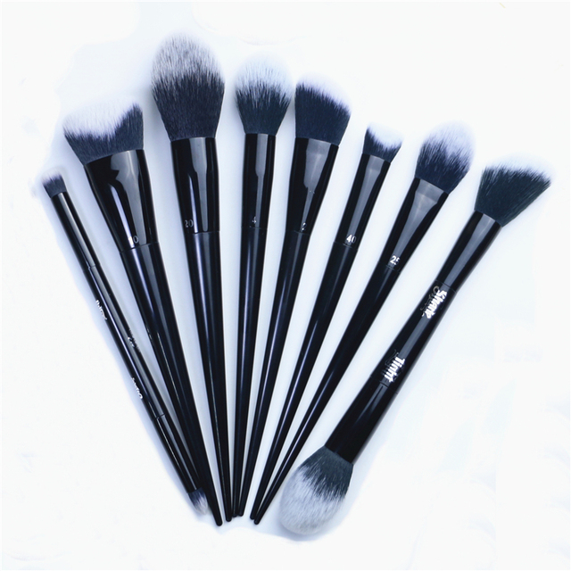 Makeup Brushes Big Powder Bronzer High gloss Foundation Blusher Concealer Shadow Highlighter Sculpting Light Dark Smoky Liner 2
