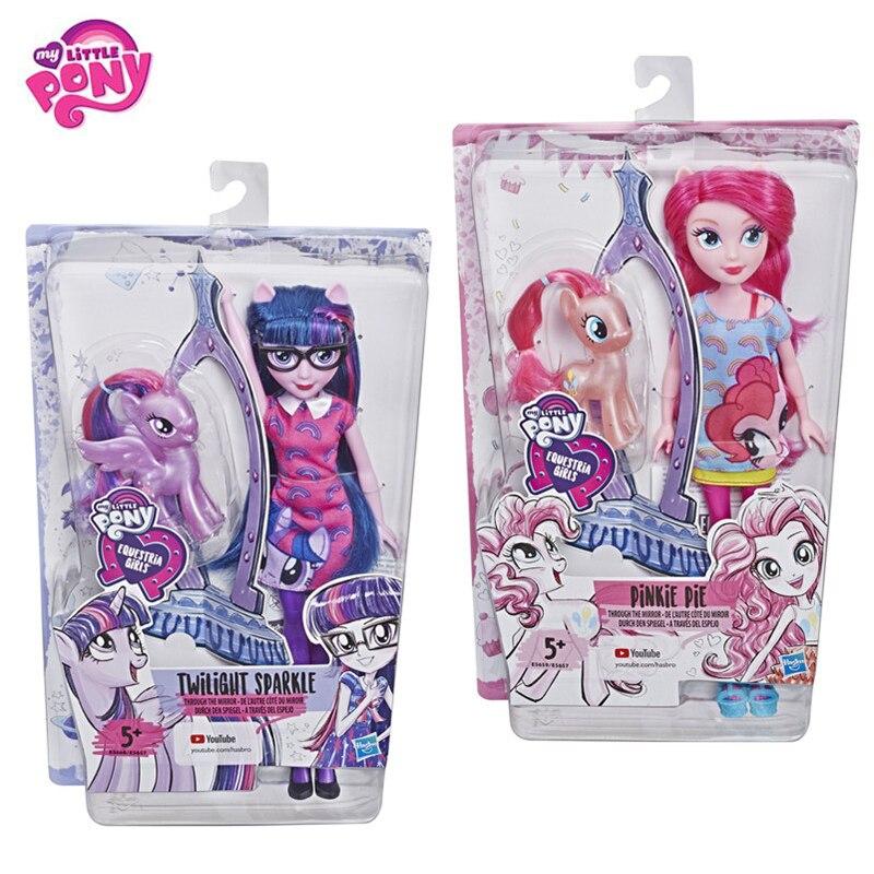 Original 2019 mon petit poney nouvelles poupées Pinkie Pie Action figurine ensemble equitation filles pour petit bébé cadeau d'anniversaire fille Bonecas