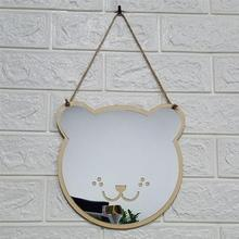 DIY Зеркало декоративное зеркало для макияжа с рисунком кота медведя косметическое зеркало туалетное зеркало для домашнего декора