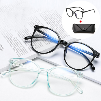 2020 Fashion Office Anti Blue Light Oversized Retro Computer Glasses Women Blue Blocking Gaming Big Size Men Eyeglasses Frame image