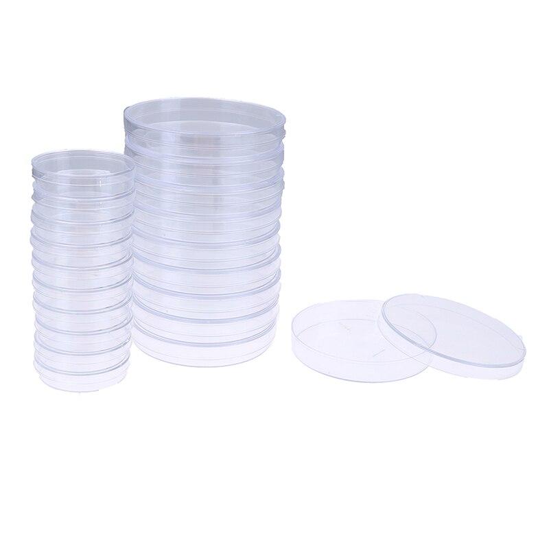 10Pcs 60mm Polystyrene Sterile Petri Bacteria Dish Laboratory Medical Supply