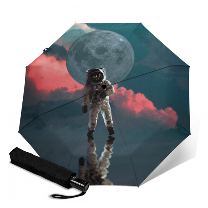 Double Layer Inside Out Folding Umbrella Upside Down Umbrellas with C-Shaped Handle for Women and Men Reverse Inverted Windproof Ripped Sofa Blue Cat Umbrella