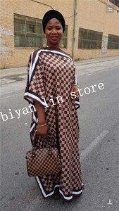 Image 5 - Robe nouvelle mode, Bazin imprimé Dashiki, longue robe/robe, Yomadou, motif de couleur surdimensionné, longueur: 130cm buste: 130cm