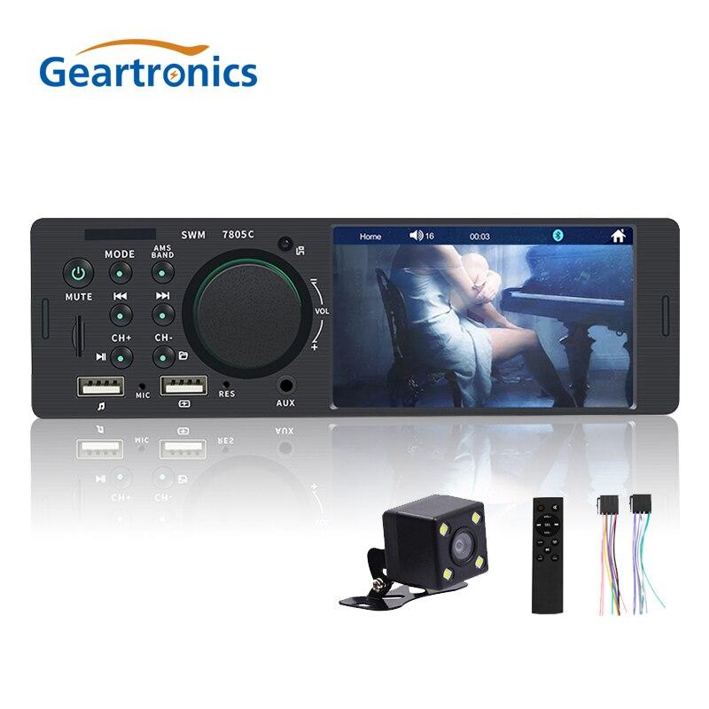 Reproductor de Radio para coche 1Din 4,1 pulgadas HD pantalla táctil FM USB Bluetooth coche llamada con manos libres carga 7 colores Radio Estéreo 5 uds 3,5mm conector de clavija de Metal estéreo de 3 polos adaptador de enchufe y Jack 3,5 con terminales de cable de soldadura enchufe estéreo de 3,5mm